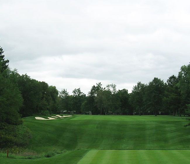 view of 10th green before bunker reno